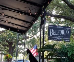 AllUnwound.com Belford Savannah, GA restaurant Weekend Getaway patio seating