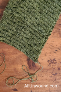 AllUnwound.com Cedar Scarf knitted with ends