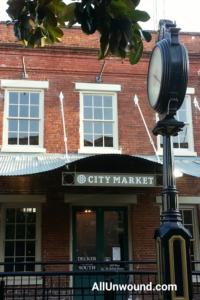 AllUnwound.com Savannah, GA City Market brick building and clock Weekend Getaway