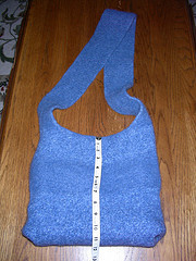 AllUnwound.com Blue Felted hand knit bag
