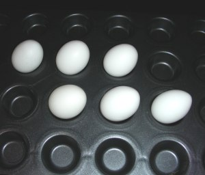 Pinterest Recipe Reviews; Baked (Hard Boiled) Eggs