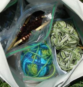 Traveling with Knitting Projects